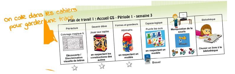 Amante La maternelle de ToT: MES PLANS DE TRAVAIL EN MS ET GS @IC_95